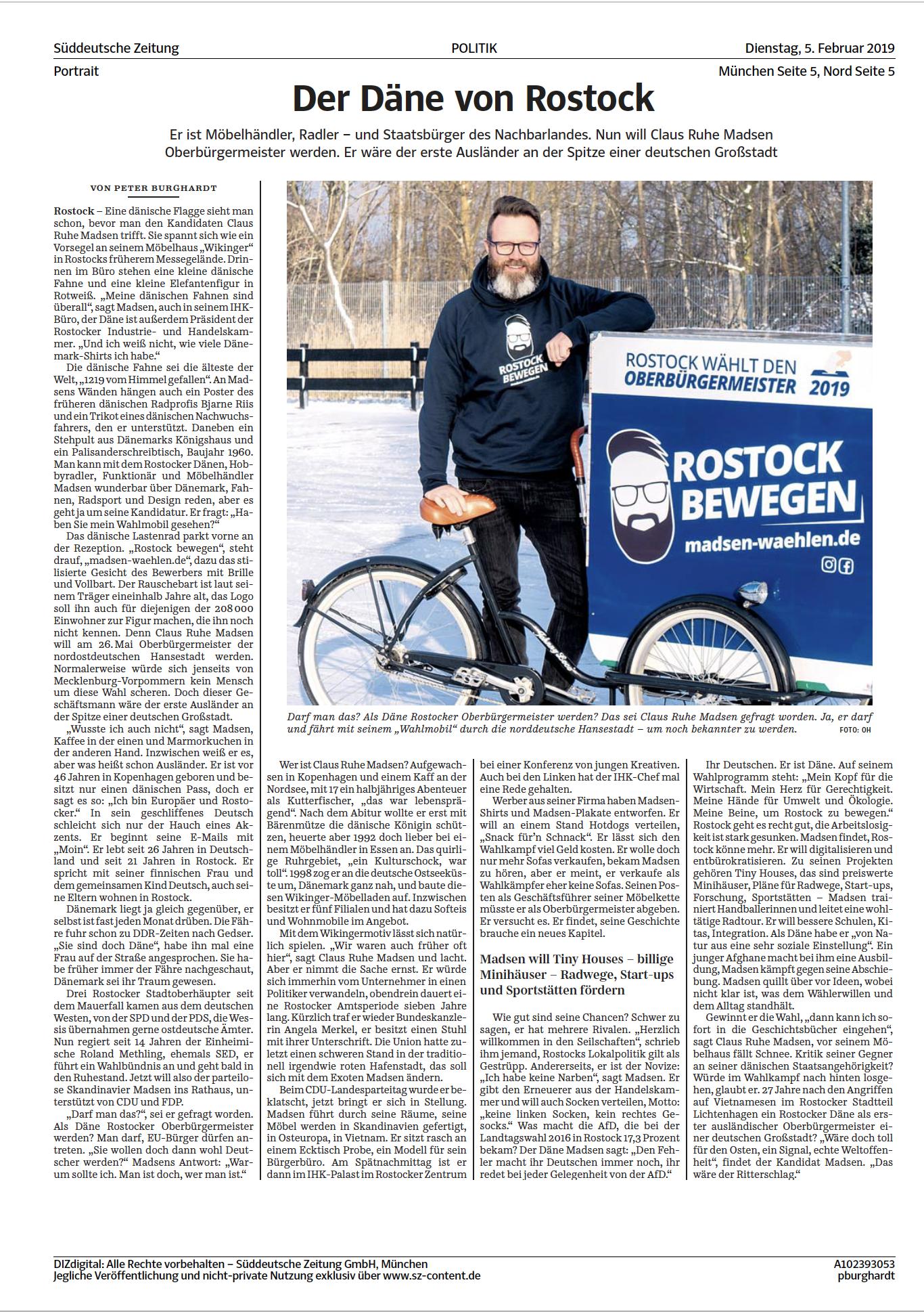 Ostseezeitung Claus Ruhe Madsen